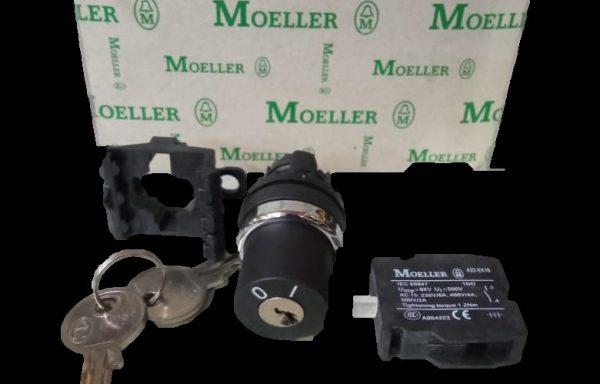 Selector con llave dos posiciones fijas 60º  22mm IP65 1NA A22-RS/K10